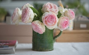 Picture roses, bouquet, pitcher