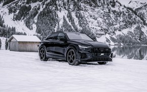 Picture SQ8, mountains, snow, ABBOT, winter, TDI, lake, Audi, forest