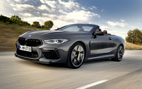 Picture road, speed, BMW, convertible, 2019, BMW M8, M8, F91, M8 Competition Convertible, M8 Convertible
