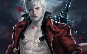 Picture Dante, Dante, Devil May Cry, Sakimichan, Even devil may cry