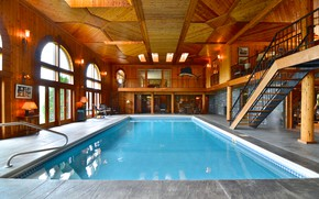 Picture interior, pool, the room, Big Cottage, Dart Valley house