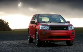 Picture red, Land Rover, 2010, crossover, Freelander, SUV, Freelander 2, LR2