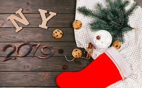 Picture winter, tree, cookies, Christmas, New year, cinnamon, cakes, 2019