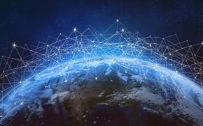 Picture internet, lines, planet, communication, information, connectivity