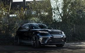 Picture black, the fence, Land Rover, Range Rover, SUV, Manhart, 2020, Velar, SV 600