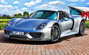 Picture Germany, art, Spyder, Porsche 918, hypercar