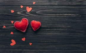 Picture love, heart, hearts, red, love, heart, wood, romantic, valentine's day