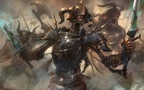 Picture warrior, skeleton, undead