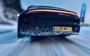 Picture HDR, 911, Porsche, Drift, Winter, Snow, Game, Carrera S, UHD, Xbox One X, Forza Horizon …