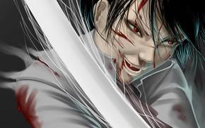 Picture look, blood, sword