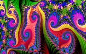 Picture bright, pattern, curls, rainbow