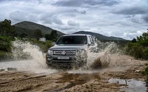Picture water, squirt, Volkswagen, pickup, cloudy, Amarok, 2020