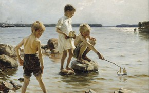 Picture 1884, Finnish painter, Albert Gustaf Aristides Edelfelt, Albert Edelfelt, Albert Gustaf Aristides Edelfelt, Albert Edelfelt, …