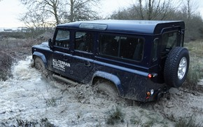 Picture puddle, prototype, Land Rover, Defender, 2013, All-terrain Electric Research Vehicle