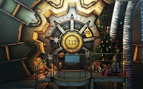 Picture The game, Christmas, New year, Decoration, Holiday, Fallout, Art, Christmas, Art, Tree, Toys, 111, Gifts, …