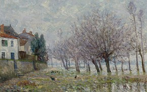 Picture landscape, picture, 1904, Maxime Maufra, Maxim Mora, After The Flood. Indre. The Lower Loire Region