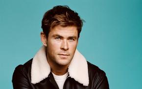 Picture look, photo, jacket, male, beautiful, Chris Hemsworth, Chris Hemsworth