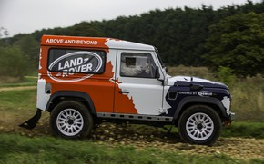 Picture Land Rover, side view, Defender, 2013, 2014, Challenge, Bowler