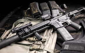 Picture weapons, rifle, weapon, muffler, custom, ar-15, assault rifle, assault Rifle, silencer, ar-15, ar 15, ar …
