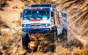 Picture Auto, Machine, Truck, Race, Master, Lights, Russia, Cabin, 300, Kamaz, Rally, KAMAZ-master, Rally, KAMAZ, The ...