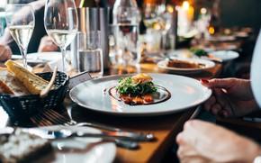 Picture table, glass, hand, bread, plug, dish, Jay Wennington