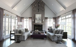 Picture interior, fireplace, living room, Home in Atlanta