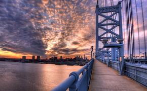 Picture Pennsylvania, Philadelphia, Old City, Ben Franklin Dusk