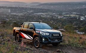 Picture photo, Black, Toyota, Pickup, Car, Hilux, Sport, Double Cab, 2019