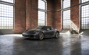 Wallpaper Porsche, the room, 4x4, Biturbo, Targa, special model, 911 Targa 4 GTS, Exclusive Manufaktur Edition
