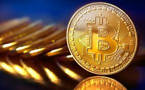 Picture blur, coins, gold, fon, coins, bitcoin, bitcoin, btc