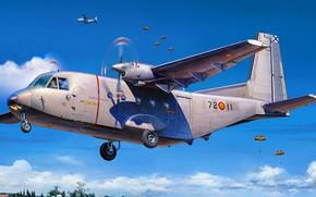 Picture military transport aircraft, EADS CASA, C-212 Aviocar