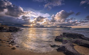 Picture beach, landscape, morning