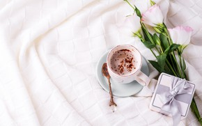Picture comfort, gift, coffee, chocolate, Cup, eustoma