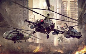 Picture The game, War, Helicopter, USA, USA, Russia, Art, Russia, Technique, War, War machine, Helicopter, Helicopter, …