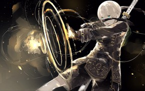 Picture weapons, boy, NieR Automata, YoRHa No 9 Type S