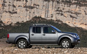 Picture mountains, stones, Nissan, 2010, pickup, Navara