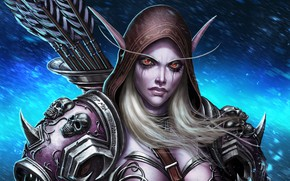 Picture girl, elf, World of Warcraft, Sylvanas Windrunner, World of Warcraft: Shadowlands