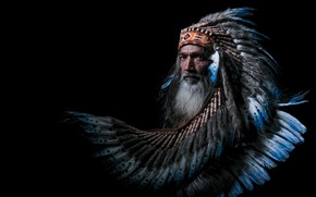 Picture people, portrait, feathers