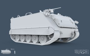 Picture 3ds max, M113A1, CC Firefight 1985, keyshot, cold conflict, Firefight 1985