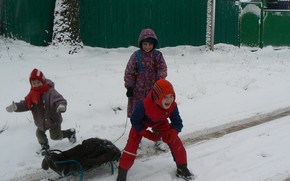Picture winter, joy, happiness, children, Belarus, my photo