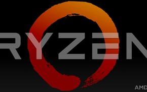 Picture letters, background, logo, AMD, dark, Corn, Ryazan, Ryzen, RYZEN, Ryazhenka