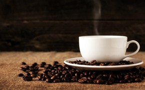 Picture the dark background, coffee, couples, mug, drink, coffee beans