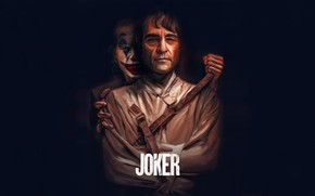 Picture art, the word, Joaquin Phoenix, letters, Joaquin Phoenix, Joker, 2019, art, Joker, figure, paint