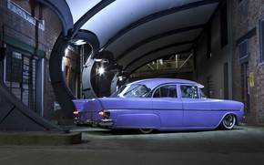 Picture Car, Purple, Old, Vintage, Retro