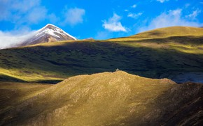 Picture the sky, mountains, Tibet