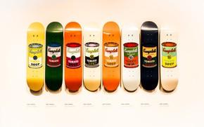 Picture Shop, Soup, Tate Modern, Skate Board, 8 Tins