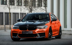 Picture BMW, G-Power, BMW M5, 2020, M5, F90, G5M Hurricane RS, black and orange