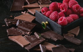 Picture berries, raspberry, black, chocolate, tiles, milk, Natasha Breen