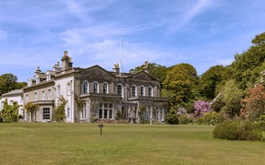 Picture garden, trees, mansion, UK, house, Garden in Madron