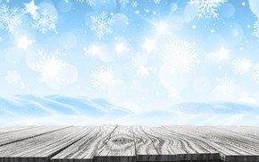 Picture winter, snow, snowflakes, background, Board, Christmas, wood, winter, background, snow, snowflakes